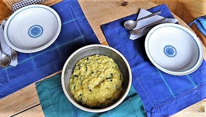 Risotto mit Safran, Salzzitrone und Spinat (6)