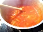 Linguine, scharfe Tomatensauce, Muschelragout (13)