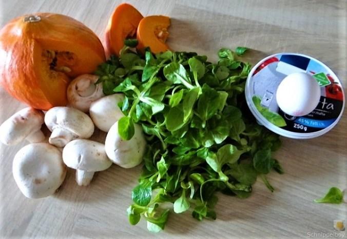 Ricottanocken,Champignon,Salat,Kürbis (7).JPG