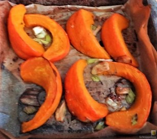Ricottanocken,Champignon,Salat,Kürbis (9)