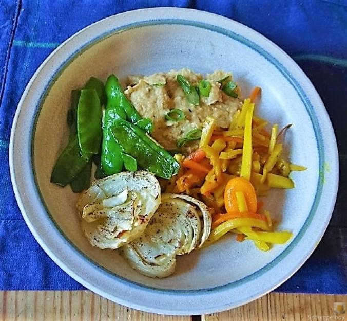 Selleriepürree und Gemüse (1)