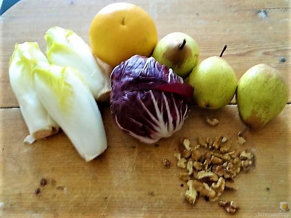 Chicoree,Radiccio,Birne und Grapefruit (4)