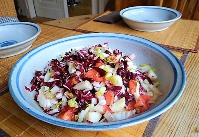 Chicoree,Radiccio,Birne und Grapefruit (7)