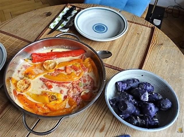 Spitzpaprtka in Wein, blaue Kartoffel (13)