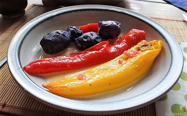 Spitzpaprtka in Wein, blaue Kartoffel (14)