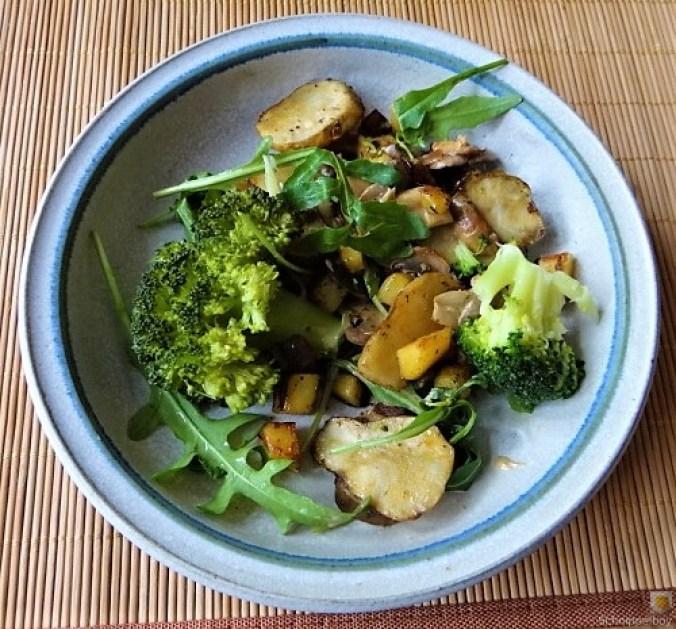Topinambur,Champignon, Kartoffeln,roh gebraten (1)