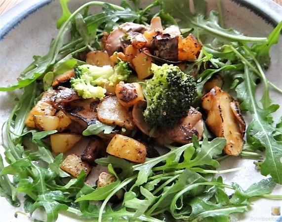 Topinambur,Champignon, Kartoffeln,roh gebraten (3)