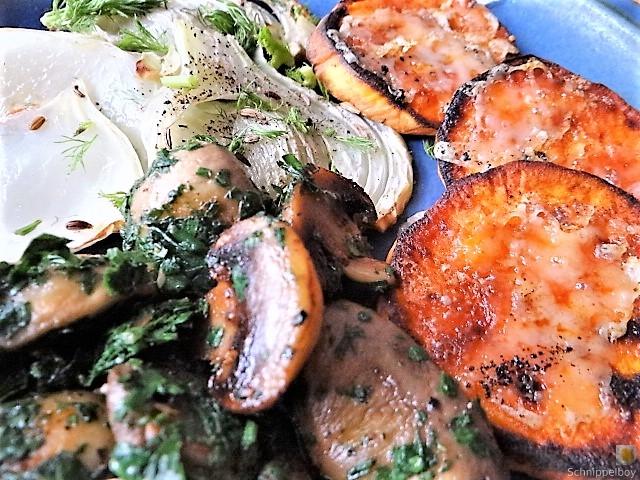 Fenchel,Süßkartoffeln und Champignon (4)