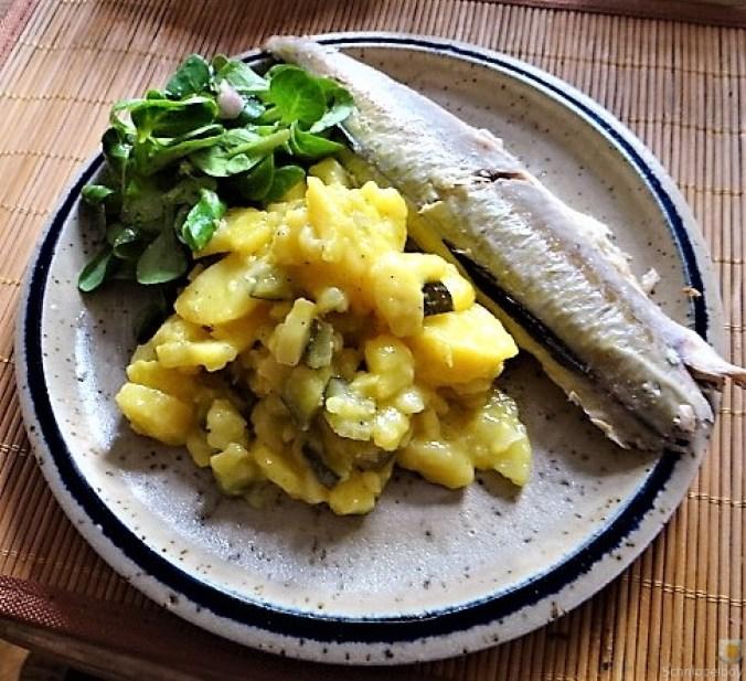 Kartoffelsalat, Makrele, Feldsalat (2)