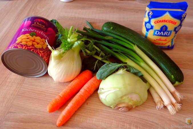 Kichererbsen, Gemüse, Couscous (6)