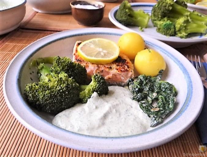 Lachs,Dip und Gemüse (18)