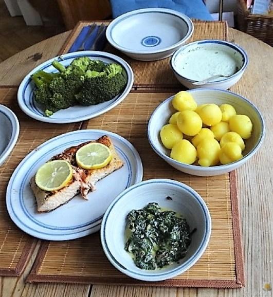 Lachs,Dip und Gemüse (6)