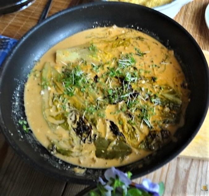 Gebratener Salat mit Polenta (11)