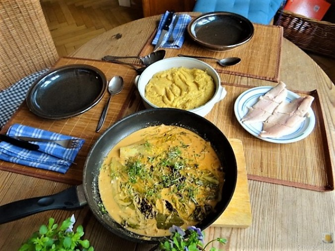 Gebratener Salat mit Polenta (18)