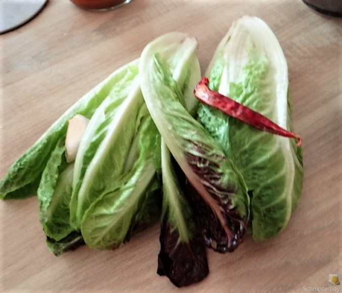 Gebratener Salat mit Polenta (8)