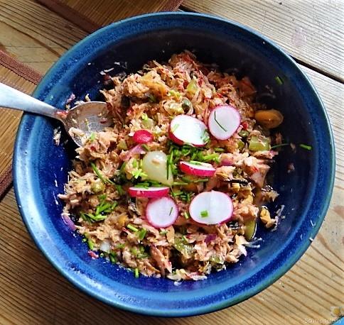 Kartoffel-Thunfisch-Feld- Gurkensalat (7)