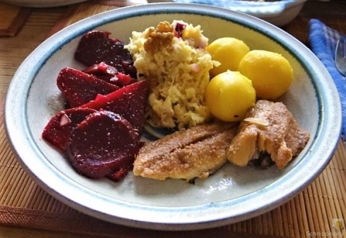 Waldorfsalat, Rote Bete Salat, Brathering (26)
