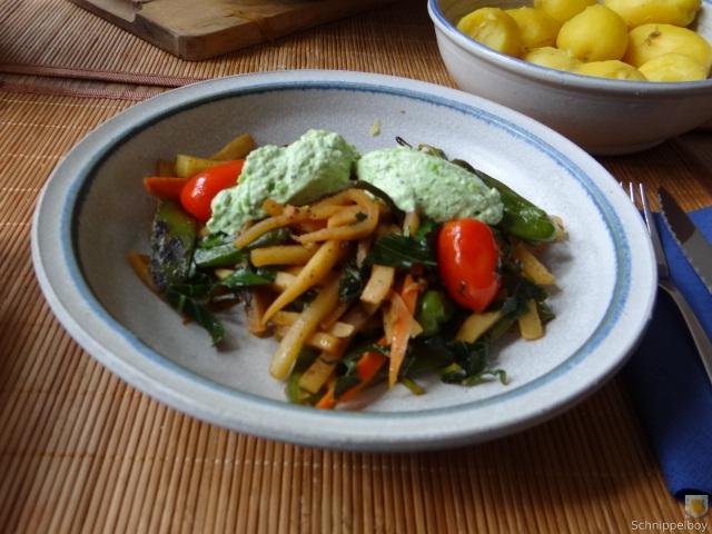 Wokgemüse und Erbs-Ricotta Creme (20)