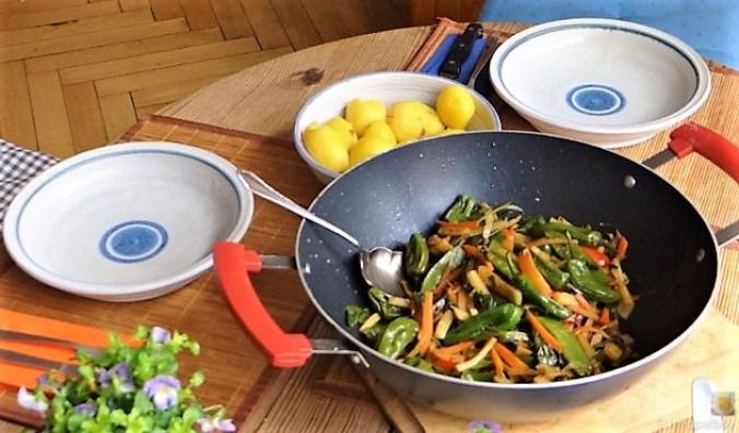 Wokgemüse und Erbs-Ricotta Creme (6)