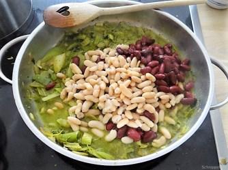 Bohnen-Bleichsellerie Pfanne und Putenschnitzel (13)