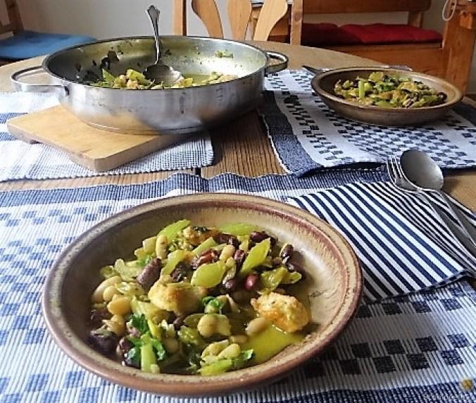 Bohnen-Bleichsellerie Pfanne und Putenschnitzel (5)