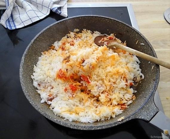 Gefüllte Riesenchampignon und Tomatenreis (15)