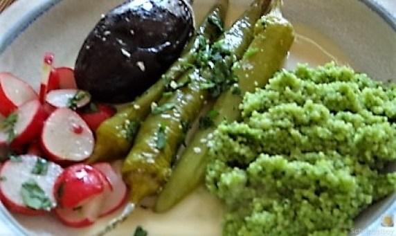 Gemüse mit Bärlauch Couscous (3)