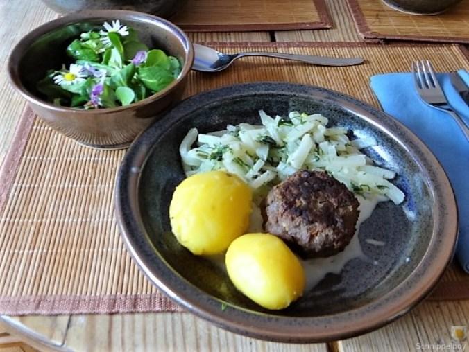 Kohlrabi mit Frikadelle (2)