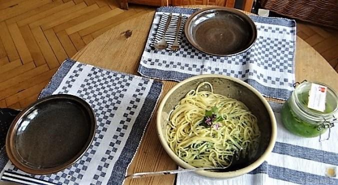Spaghetti mit Gorgonzola-Brennesselsauce (18)