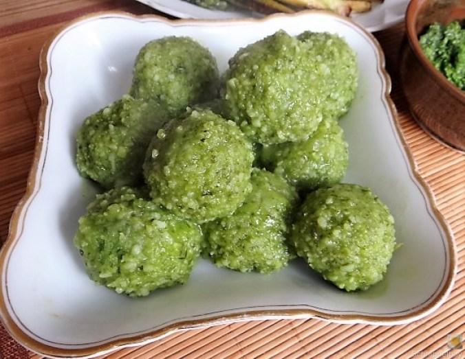 Grüne Klöße, Grüner Spargel, Zitronensauce (17)