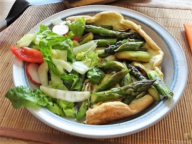 Omlette,Spargel, Salat (4)