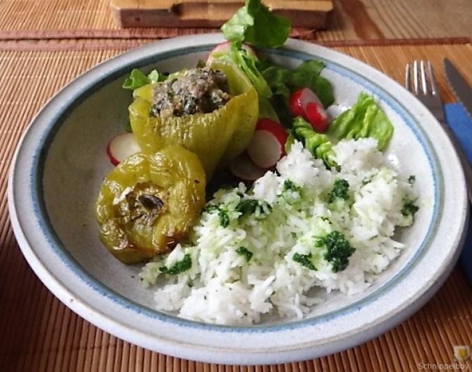 Paprika,grün,gefüllt (2)