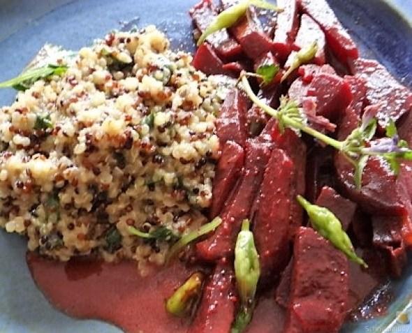 Quinoa Risotto, Rote Beete Gemüse (5)