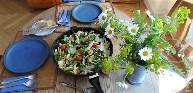 Spirelli,Spargel und Tomaten (7)