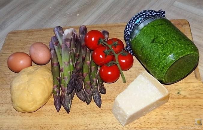 Spirelli,Spargel und Tomaten (9)