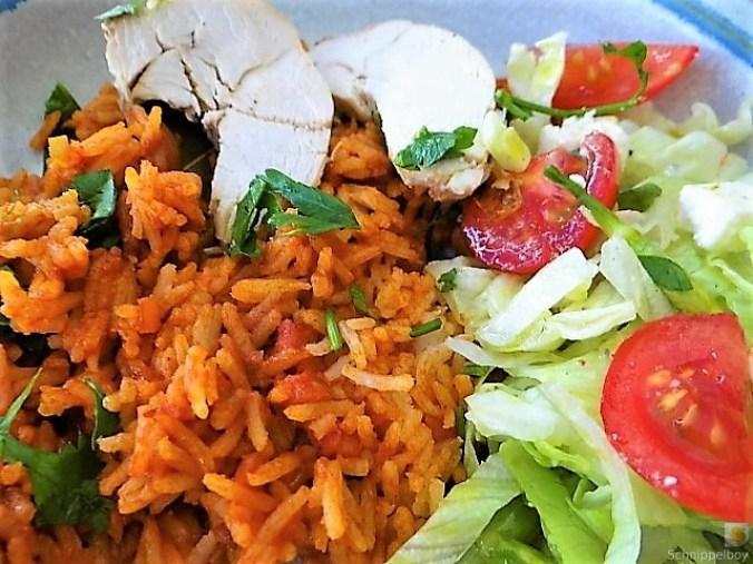 Tomatenreis und Salat (4)