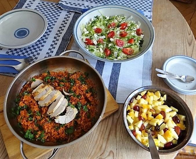 Tomatenreis und Salat (7)