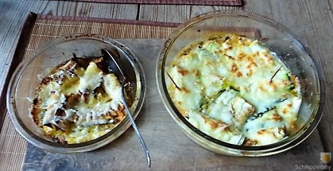 Zucchini und Kartoffelröllchen mit Fetacreme (1)