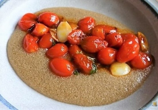 Amaranth, Wildkräutersalat und Tomaten (18)