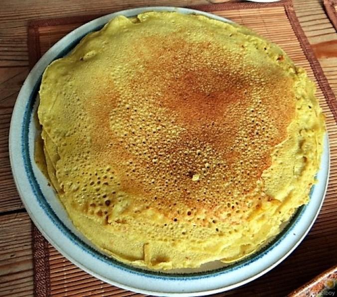 Buchweizen Pfannkuchen und Tomaten Ragout (15)