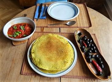 Buchweizen Pfannkuchen und Tomaten Ragout (20)