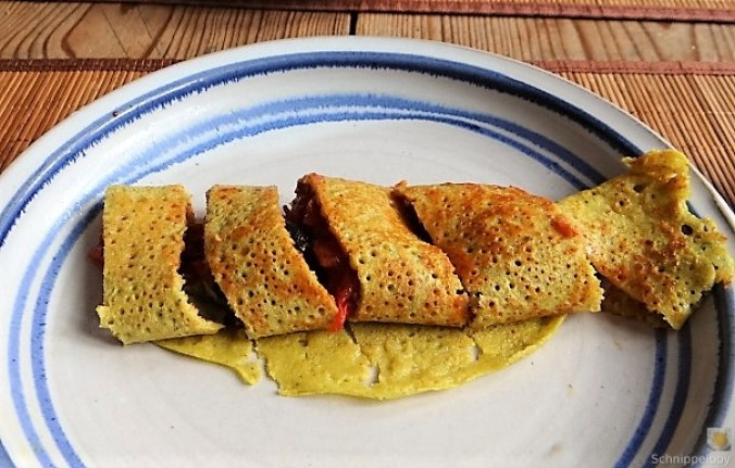 Buchweizen Pfannkuchen und Tomaten Ragout (23)