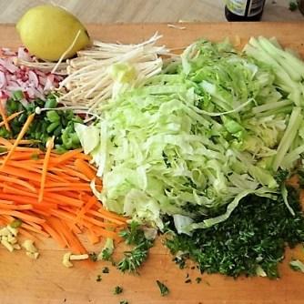 Glasnudeln, Gemüse und Putenfleisch (11)