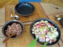 Kartoffelsalat, Nordseekrabben, Erdbeeren (18)