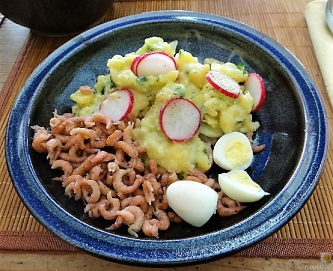 Kartoffelsalat, Nordseekrabben, Erdbeeren (21)