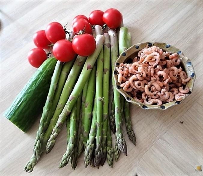 Rührei mit Krabben, Grüner Spargel und Tomaten (11)