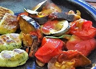 Ratatouille in der Pfanne und Spinat Gnocchis (21)