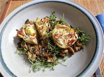 Zucchini Röllchen mit Champignon (21)