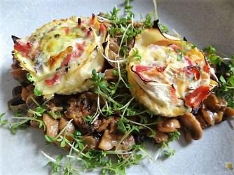 Zucchini Röllchen mit Champignon (22)