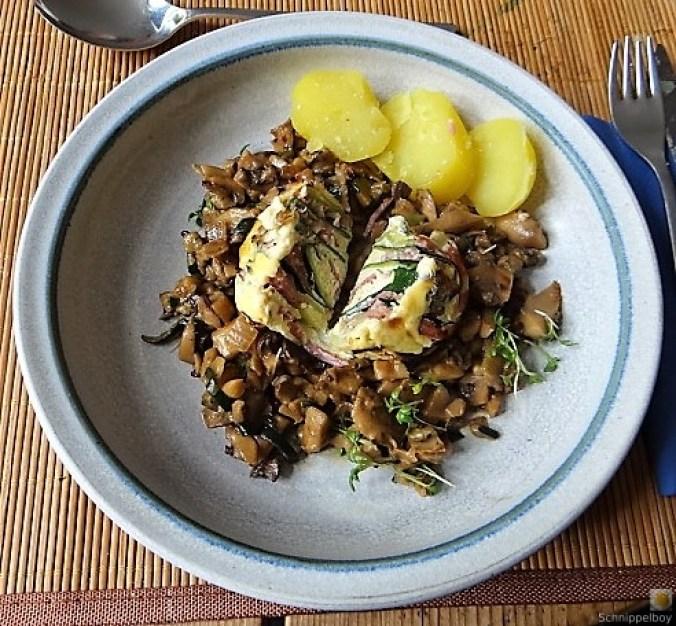 Zucchini Röllchen mit Champignon (23)